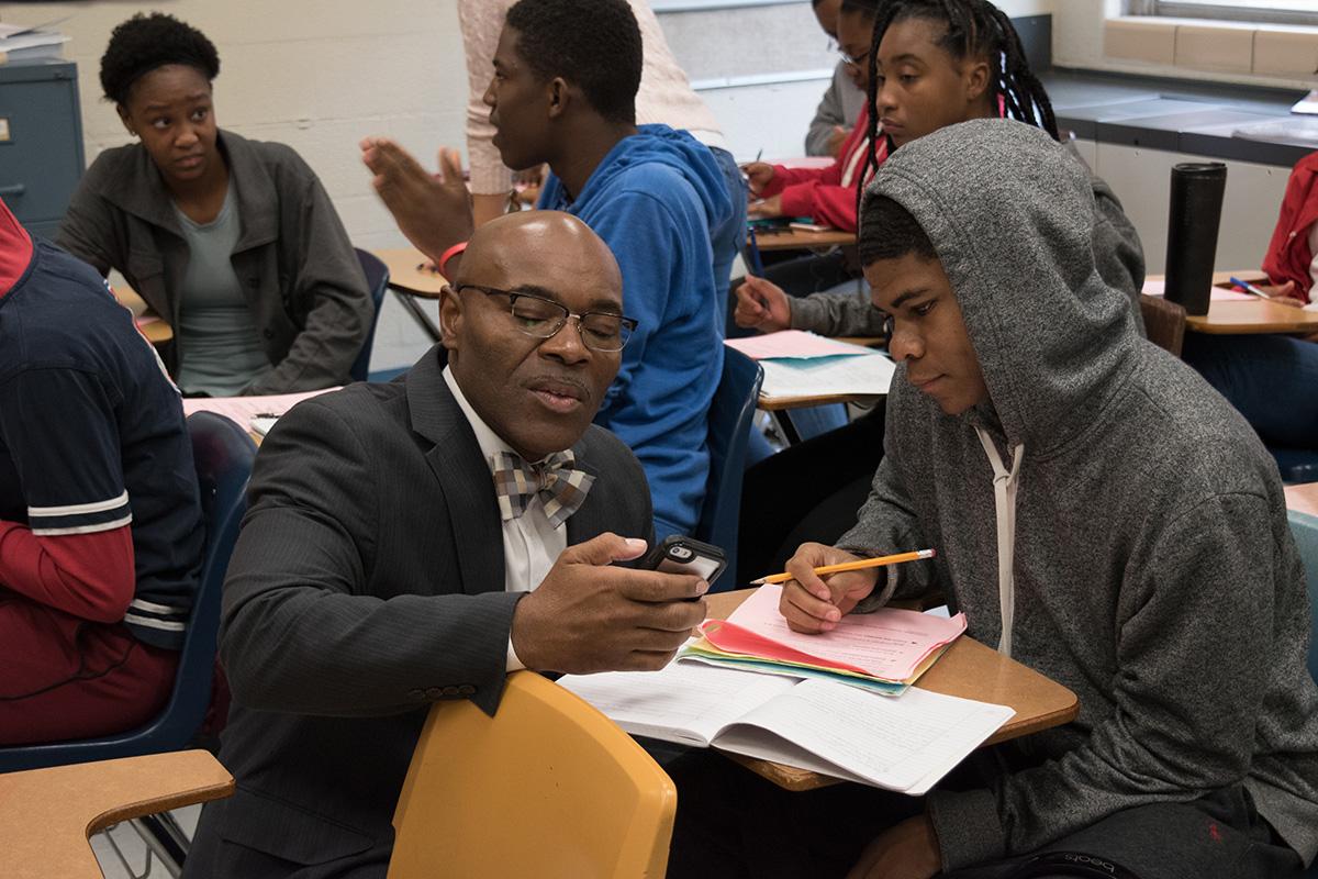 Ferguson-Florissant superintendent and student